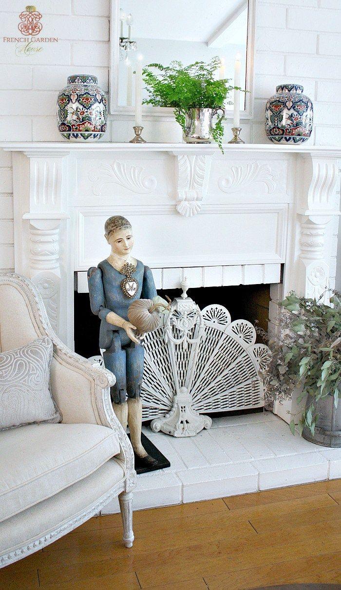 Fireplace Mantel Mirror Inspirational Wel Ing Fall Home tour Vignettes
