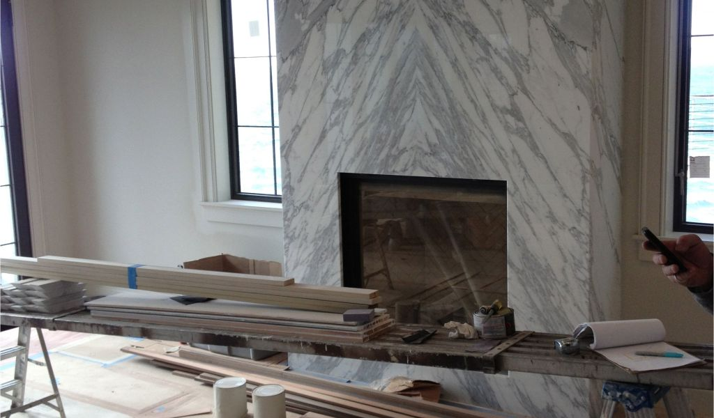 how to build a gas fireplace mantel contemporary slab stone fireplace calacutta carrara marble book of how to build a gas fireplace mantel 1024x600