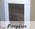 Fireplace Mantel Plans Fresh No Fireplace Mantel No Problem Build Your Own