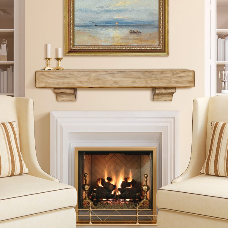 brown wooden mantel shelf over white stone fireplace on cream living within marvelous gas fireplace mantel with regard to house 768x768