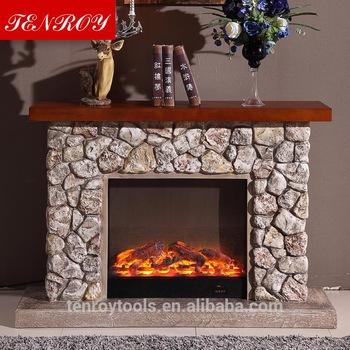 Imitation stone factory wholesale mantel wooden fireplace 350x350