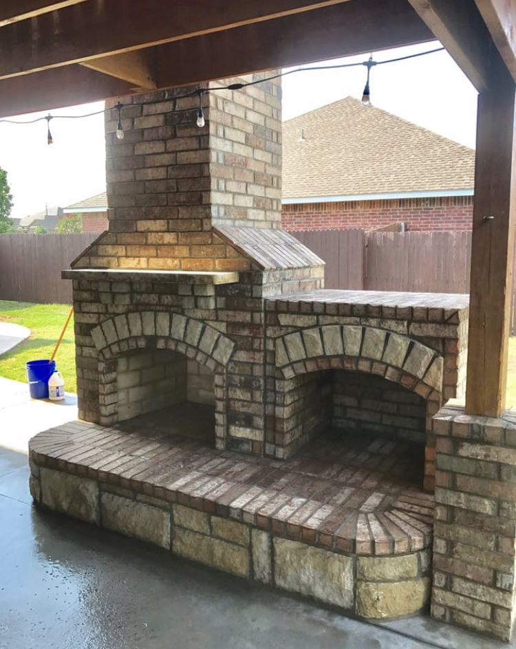Fireplace Masonry Elegant Outdoor Fireplace Diy Home Remodeling In 2019