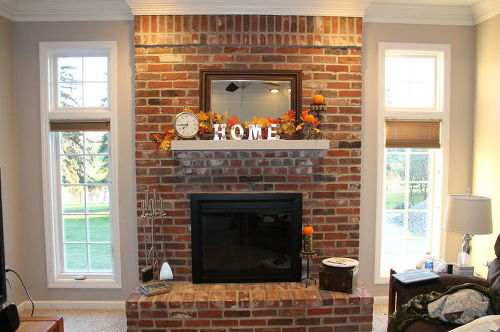 pictures of brick fireplaces