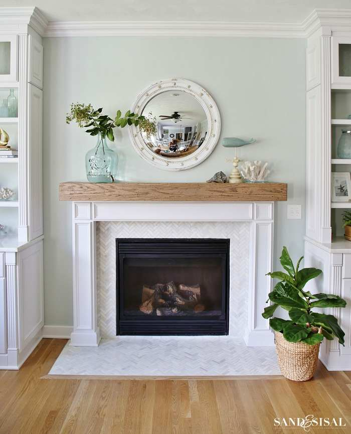 coastal fireplace mantels