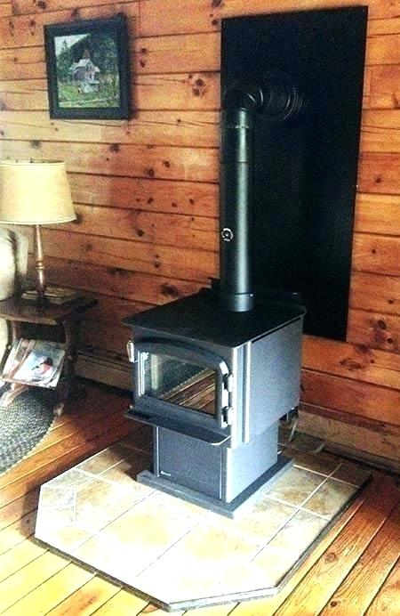 wood stove chimney kit cathedral ceiling installing through wall installed installation sa