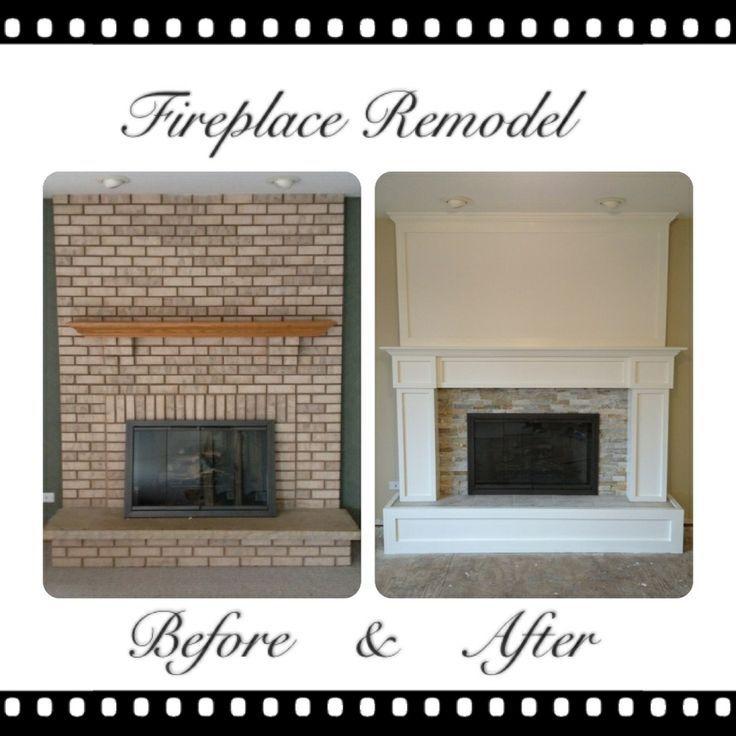 Fireplace Redone Awesome Remodeled Brick Fireplaces Brick Fireplace Remodel