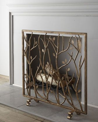 Fireplace Screens Covers Awesome Bird & Branch Fireplace Screen