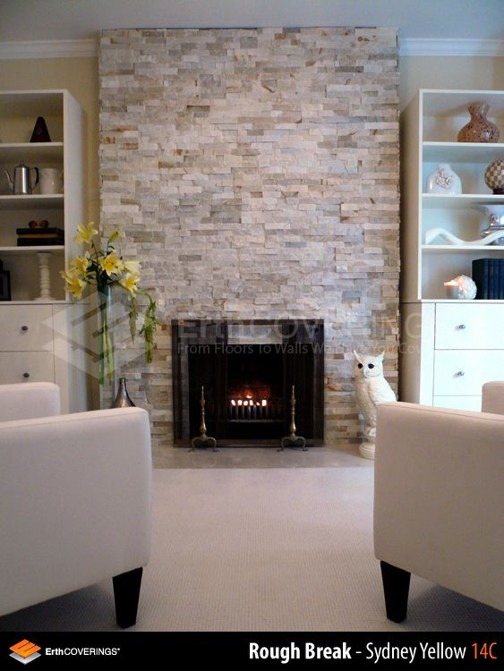 Fireplace Stone Surround Unique Living Room Fireplace Clad In Erthcoverings Sydney Yellow
