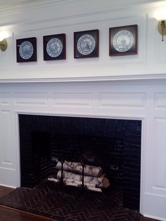 fireplace in visitor