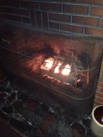 fireplace adds a nice