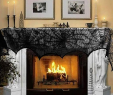 Fireplace Supplies Near Me Lovely Aerwo Halloween Decoration Black Lace Spiderweb Fireplace