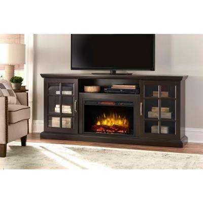 espresso home decorators collection fireplace tv stands 365 741 48 y 64 400 pressed