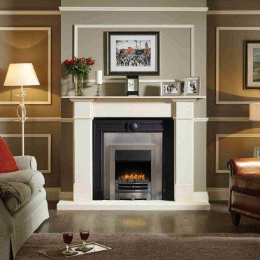 0 201 070 gazco logic2 electric chartwell fire brushed steel frame highlight polished front v5000 372 372