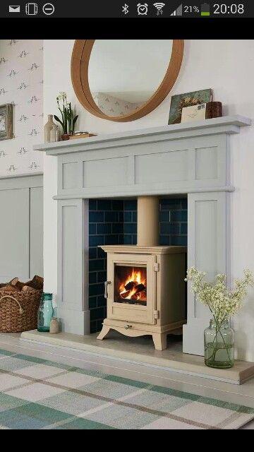 Fireplace Warehouse Colorado Springs Fresh Love the Tiles Behind the Cream Log Burner
