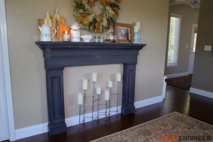 idea around your homes to her with trendy faux fireplace mantel surround diy faux fireplace faux fireplace and also faux wood mantel 728x485