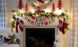 18 Awesome Fireplace Xmas Decorations