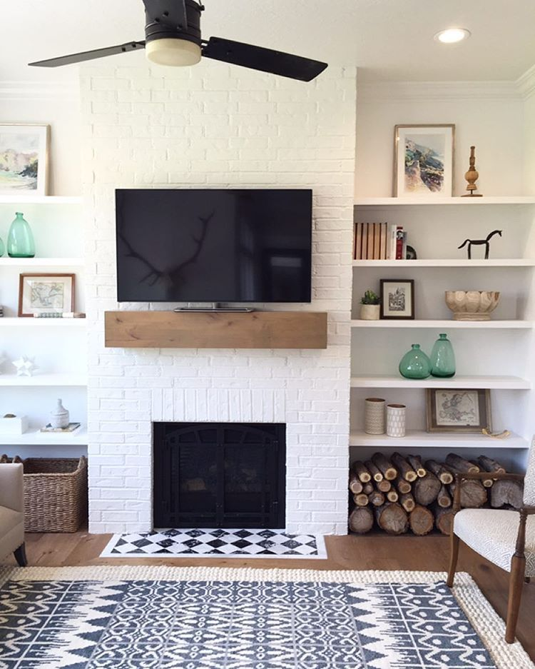 Floating Shelves Next to Fireplace Best Of I Love This Super Simple Fireplace Mantle and Shelves Bo