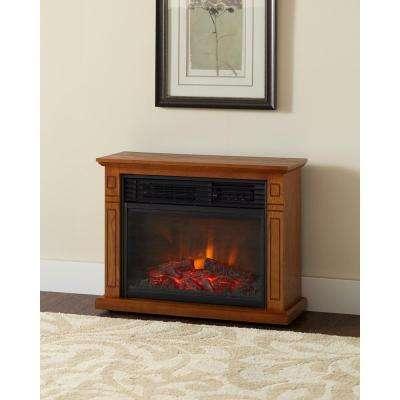oak hampton bay freestanding electric fireplaces fp405r qa oak 64 400 pressed