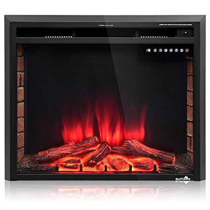 """Free Standing Electric Fireplace Heater Unique Tangkula Electric Fireplace Insert 26"""" Smokeless Modern Electric Fireplace Heater Recessed Free Standing Insert with Remote Control and Adjustable"""
