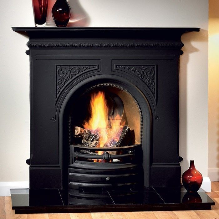 Gas and Wood Fireplace Combo Unique Pembroke Black Bination Cast Iron Fireplace