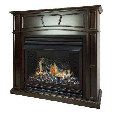 tobacco pleasant hearth ventless gas fireplaces vff ph32lp 64 400 pressed