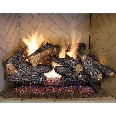 logs for fireplace split oak vented natural gas log set repair