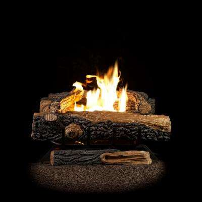 Gas Fireplace Log Replacement Elegant Oakwood 22 75 In Vent Free Propane Gas Fireplace Logs with thermostatic Control