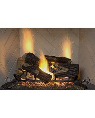 sure heat bro24dbrnl 60 vented gas fireplace logs 24 charred oak