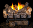 """Gas Fireplace Logs Reviews New This 16"""" G8 Valley Oak Gas Log Set is A Low Btu Fire Feature"""