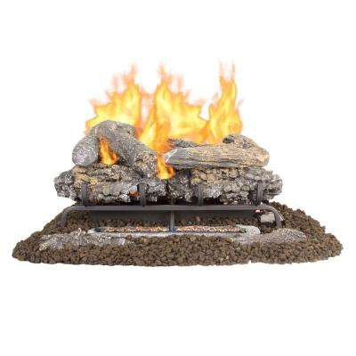 pleasant hearth ventless gas fireplace logs vfl2 vo24dr 64 400 pressed