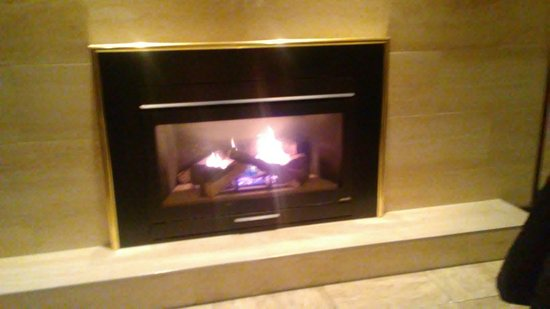 fireplace at stoney
