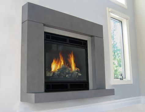 Gas Fireplace Replacements Inspirational Gas Fireplace with A Concrete Fireplace Surround and