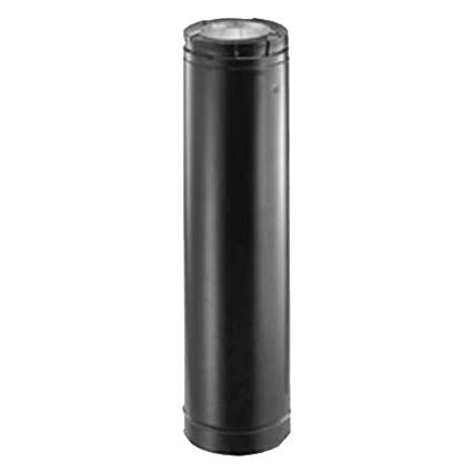 "Gas Fireplace Vent Pipe Unique Simpson Duravent 46dva 48b 4x7"" Direct Vent Black Pipe 48"