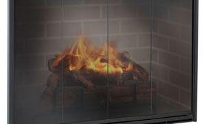 21 Beautiful Glass Door for Fireplace