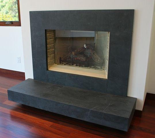 Granite Fireplace Surround Awesome Brazilian Black Slate Fireplace Surrounds