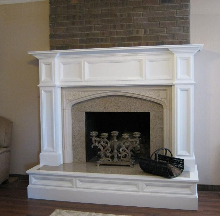 Granite Fireplace Surround Lovely Oxford Wood Fireplace Mantel after Makeover Image