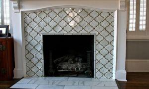26 Beautiful Grey Tile Fireplace