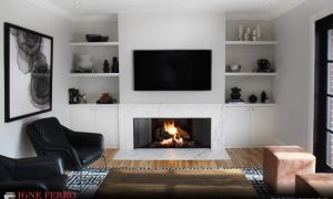 25 Elegant Horizontal Fireplace