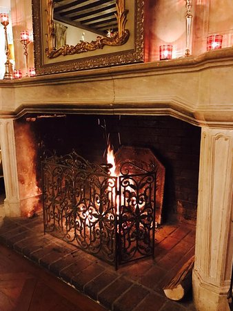 fireplace in the sitting
