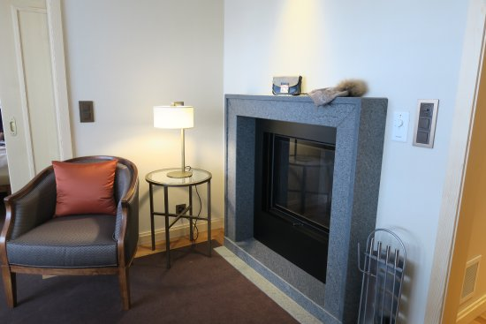 fireplace in the living