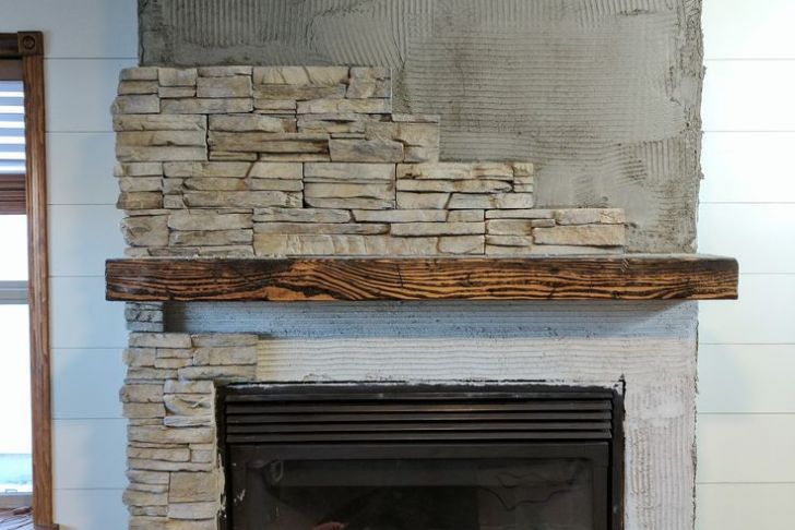 How to Build A Stone Fireplace Inspirational How We Transformed Our Ugly Fireplace Using Stacked Stone