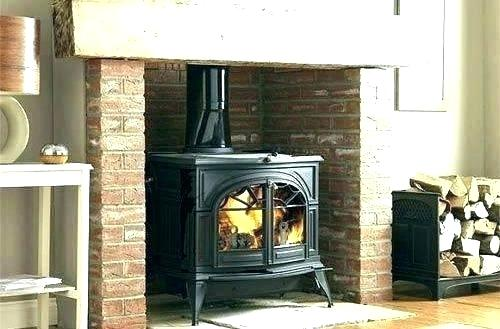 convert fireplace to wood stove prefab burning gas