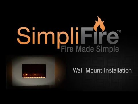 How to Install An Electric Fireplace In A Wall Inspirational How to Install Simplifire Electric Wall Mount Fireplace