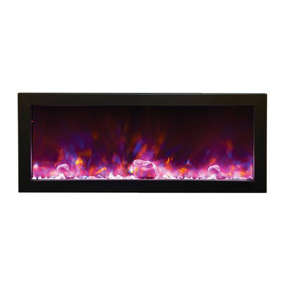 How to Install An Electric Fireplace Insert Beautiful Amantii Panorama Deep 40″ Built In Indoor Outdoor Electric Fireplace Bi 40 Deep
