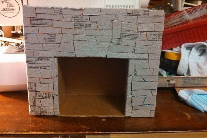 How to Make A Fake Fireplace Mantel Awesome How to Make A Fake Fireplace Out Of Cardboard