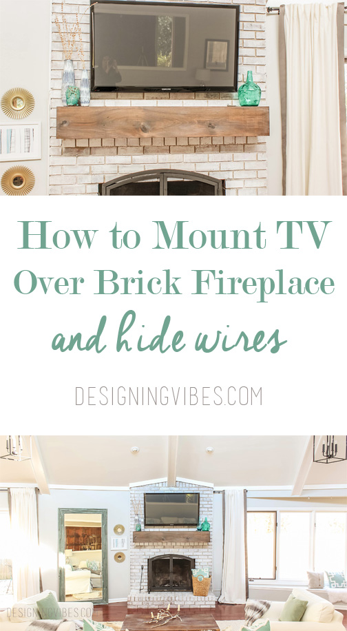 how to mount tv over fireplace