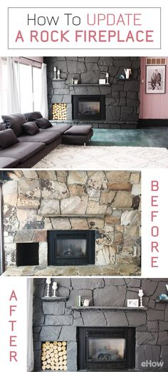 c9340b d066bf f464db old rock fireplace makeover paint rock fireplace