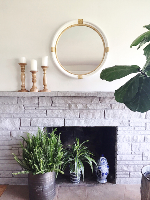 The Inspired Room Painted Stone Fireplace Paris Grey