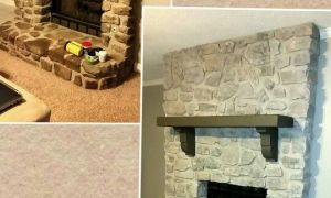 18 Beautiful How to Whitewash Stone Fireplace