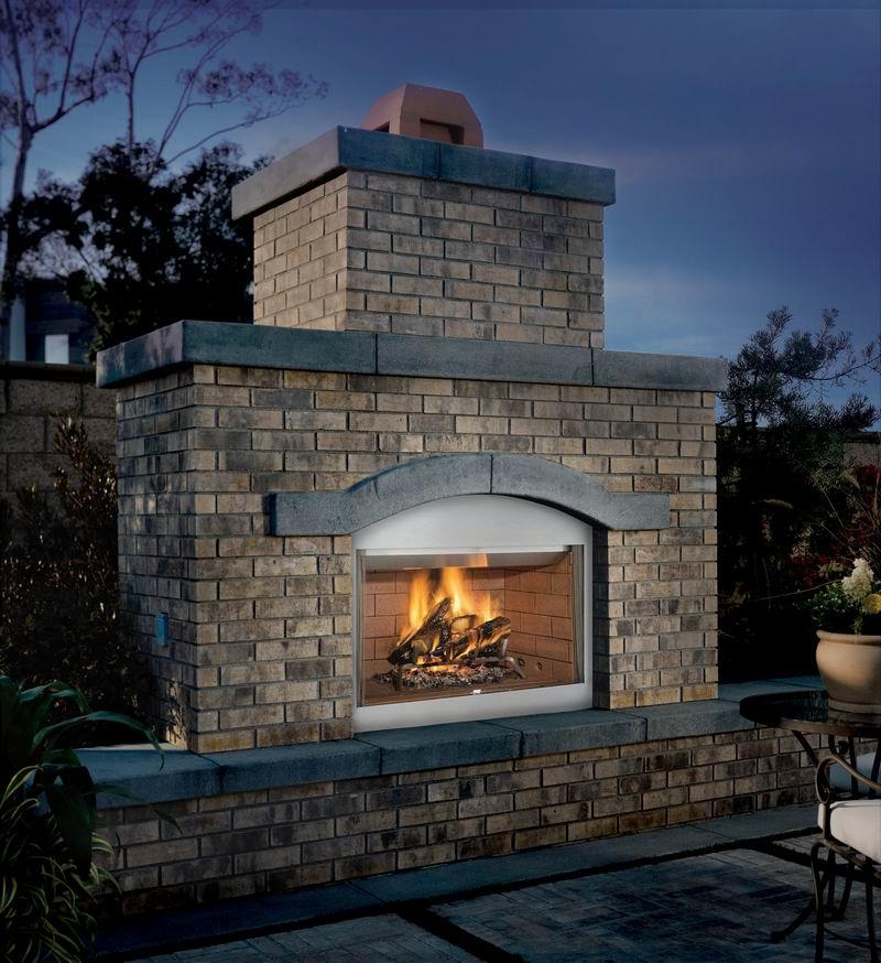 vanguard laredo tuscan outdoor wood burning fireplace